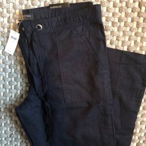 NWT! Banana Republic Navy Linen Pants
